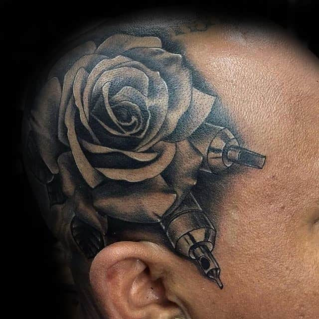 80 Black Rose Tattoo Designs For Men Dark Ink Ideas