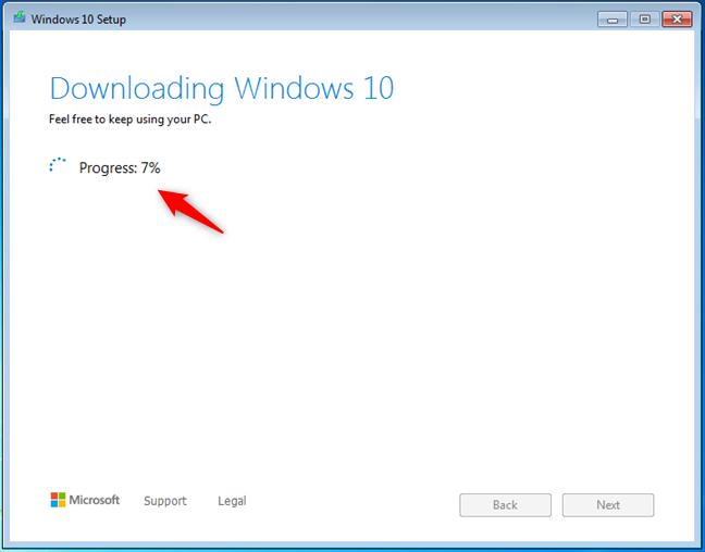 Descargando Windows 10