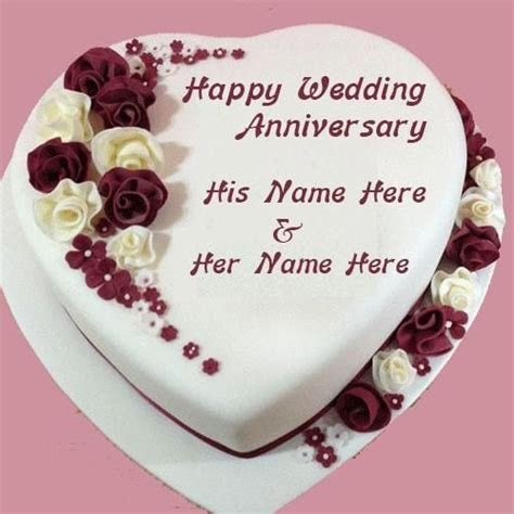 Happy Wedding Anniversary Cake Images With Name   Good