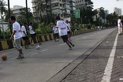The Worlds Youngest Street Photographer Shoots The Football Marathon Carter Road Bandra by firoze shakir photographerno1