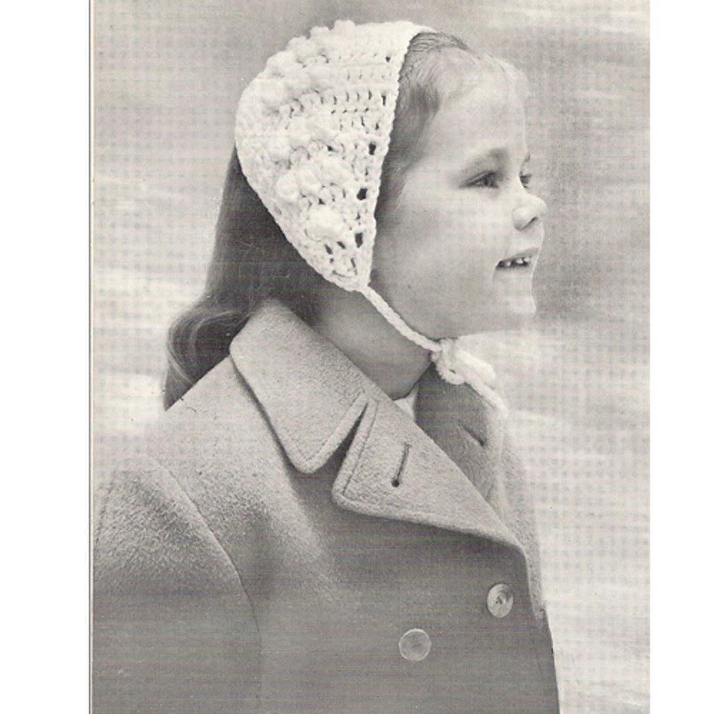 Girls Crocheted Headband Pattern with Neck Ties