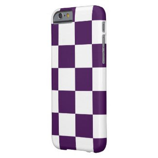 Checkered Purple and White iPhone 6 Case