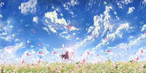 anime flowers clouds wallpapers hd desktop  mobile