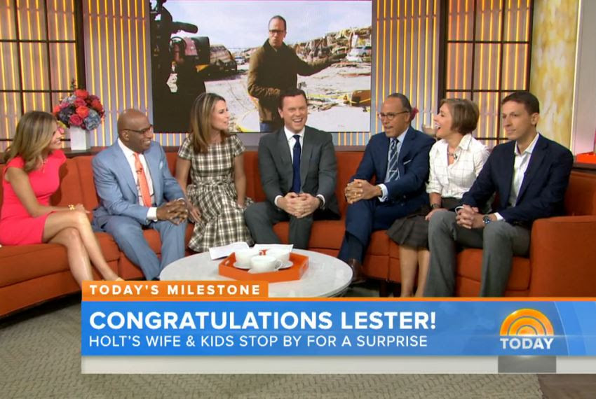 Lester Holt Gets A Surprise Visit On His First Day As Nightly News