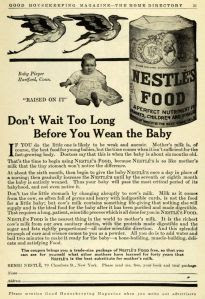 Nestlé ad from 1911