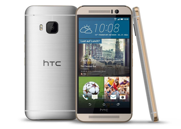 HTC One M9 in silver and gold