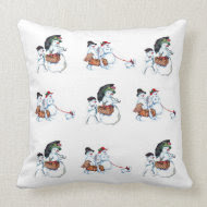 Snowmen Throw Pillows