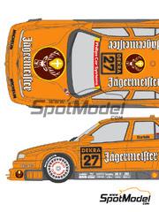 Shunko Models: Calcas escala 1/24 - Alfa Romeo 155 V6 TI Jagermeister Nº 27 - Michael Bartels (DE) - DTM 1994 - para kits de Tamiya TAM24137, TAM24148