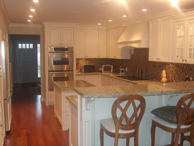 Custom Antique White Cabinets - traditional - kitchen - other