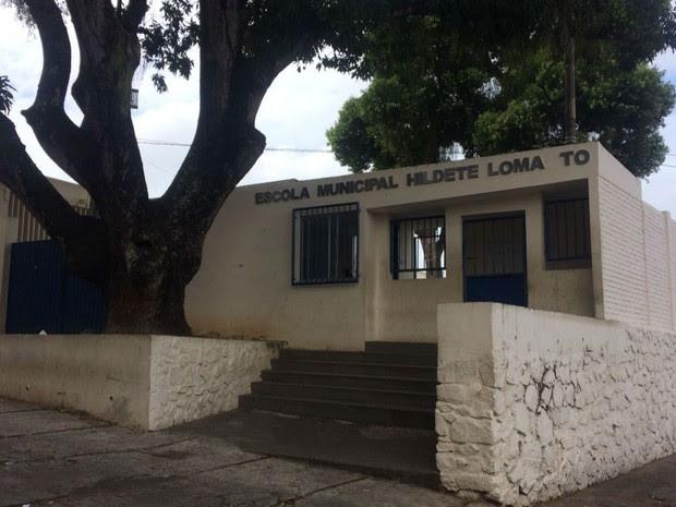Escola Municipal Hildete Lomanto, no Garcia (Foto: Juliana Almirante / G1)