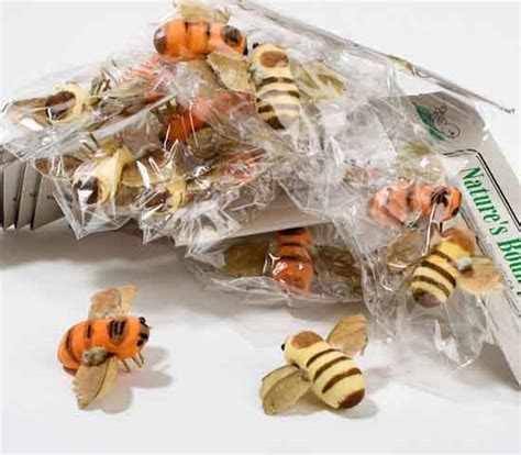 "1"" Artificial Bumble Bees   Box of 24   Birds"