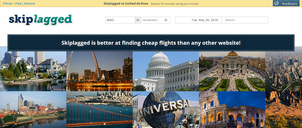 "Skiplagged.com finds ""hidden city"" flight tickets which may save you up to 80%."