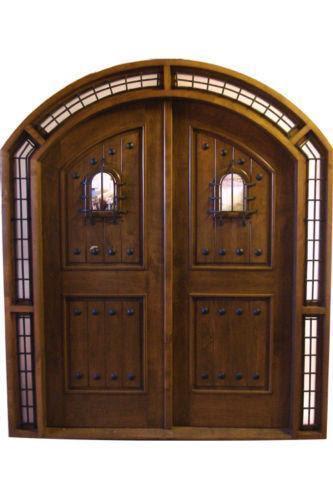 Double Entry Wood Doors  | 861 x 950