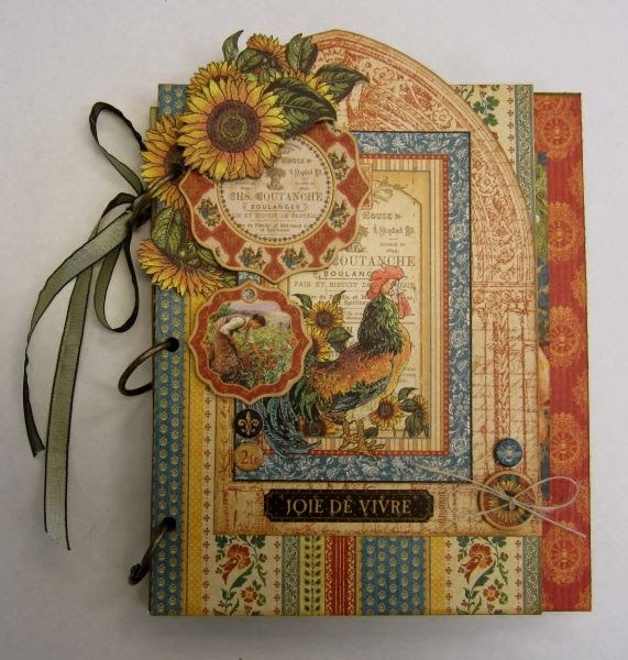 """""""A French Country Affair"""" mini album and organizer by @Maria Cole using French Country. Stunning! #graphic45 #organize"""