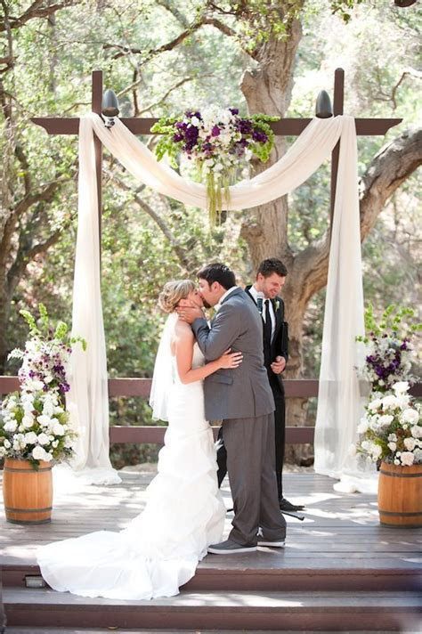 Rustic Purple And Gray Wedding Arch Ideas   Deer Pearl