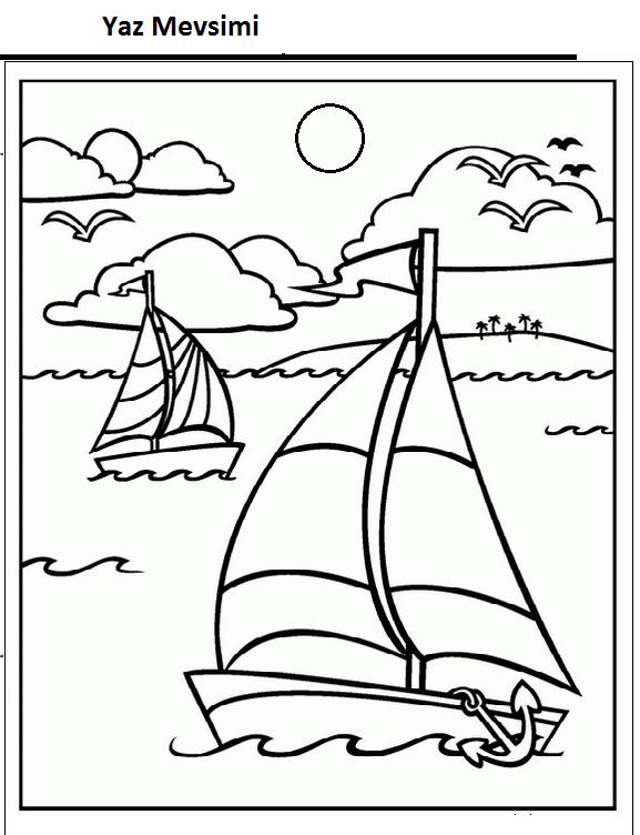 Mevsimler Boyama Sayfası Sayfa 5 7 Arabulokucom