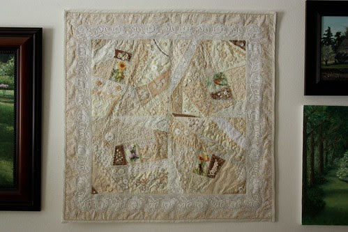 Completed Cream White Quilt