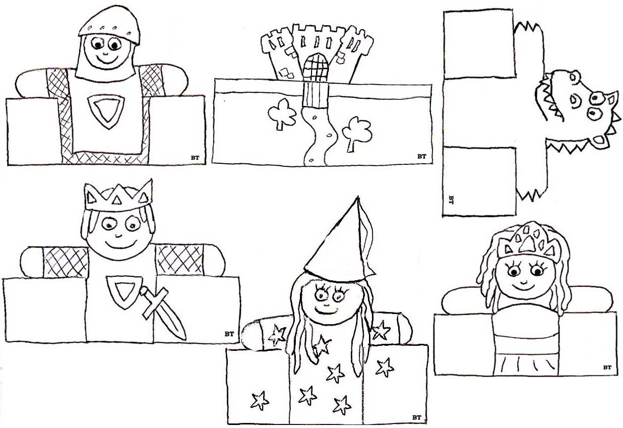 Marionnettes  doigts de papier · Marionnettes  doigts de papier