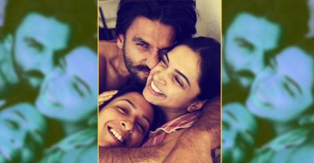 Deepika Shares a Cuddling Picture with Hubby Ranveer and Sister Anisha Padukone