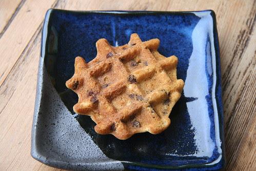 Waffled Chocolate Chip Oatmeal Cookies