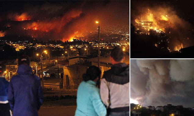 'Catastrophe': Fires continued to rage in Valparaiso, Chile, today