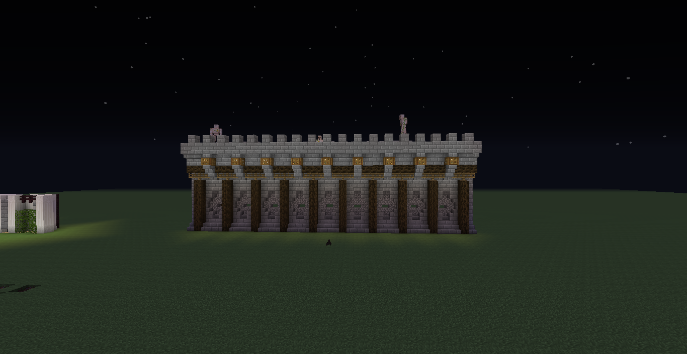 Minecraft Small Stone Wall Designs