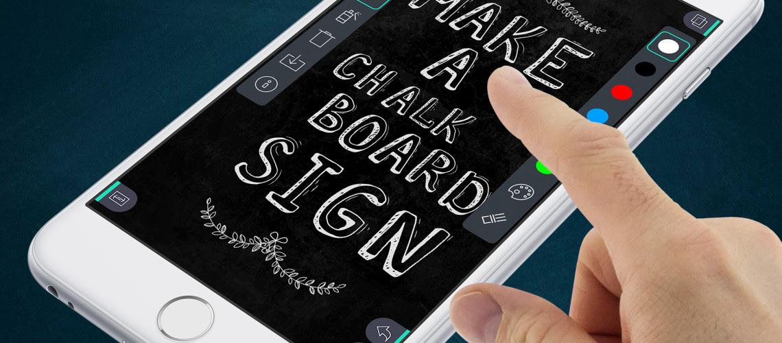 [+] chalkboard photo app