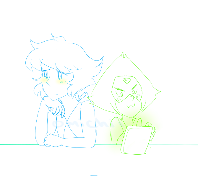 when there's no time for lapidot you gotta make some. Super quick doodle!