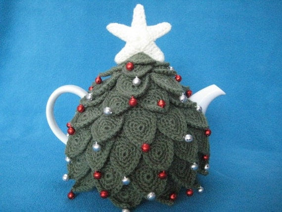 Crochet Pattern Teacosy Christmas Tree Tea Cosy Cozy PDF