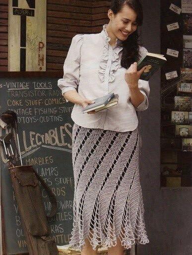 простая юбка крючком