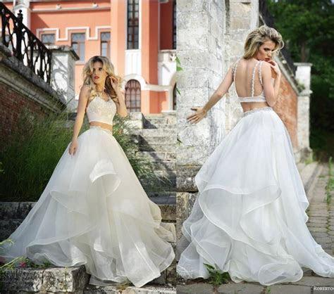 New Arrival Two Piece Roberto Motti Backless Wedding Dress