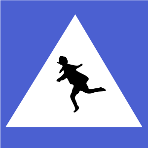 Italian traffic signs, used from first post-wa...
