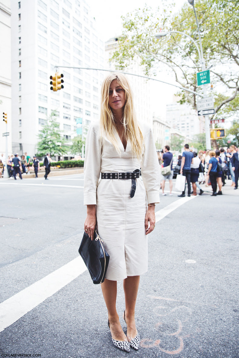 New_York_Fashion_Week_Spring_Summer_15-NYFW-Street_Style-Ada_Kokosar-Belted_Dress-1