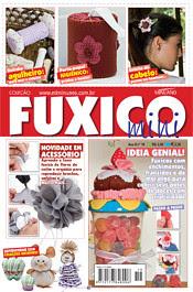 Trabalho meu na revista mini fuxico da Editora Minuano by Vera Arte em Giz