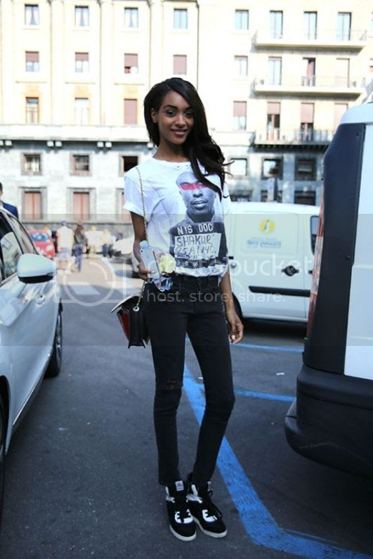 Jourdan Dunn in Milan For Fashion Week SS13