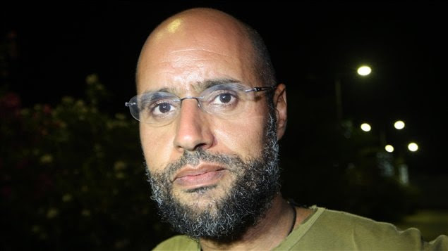 Saïf Al-Islam Kadhafi, l'un des fils du président déchu Mouammar Kadhafi, le 23 août 2011.