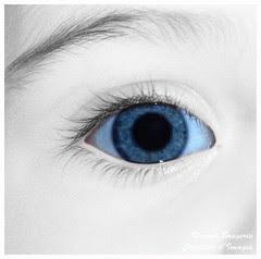 Regard bleu