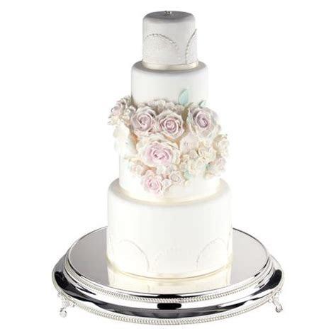 18 Inch Round Shiny Wedding Cake Stand Plateau (Silver