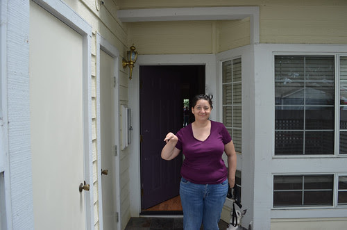 Kate at the Front Door