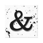 ampersand canvas wall art bold black and white canvas print