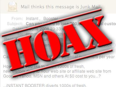 hoax spam falso