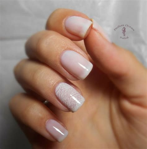 25  best ideas about Simple Bridal Nails on Pinterest
