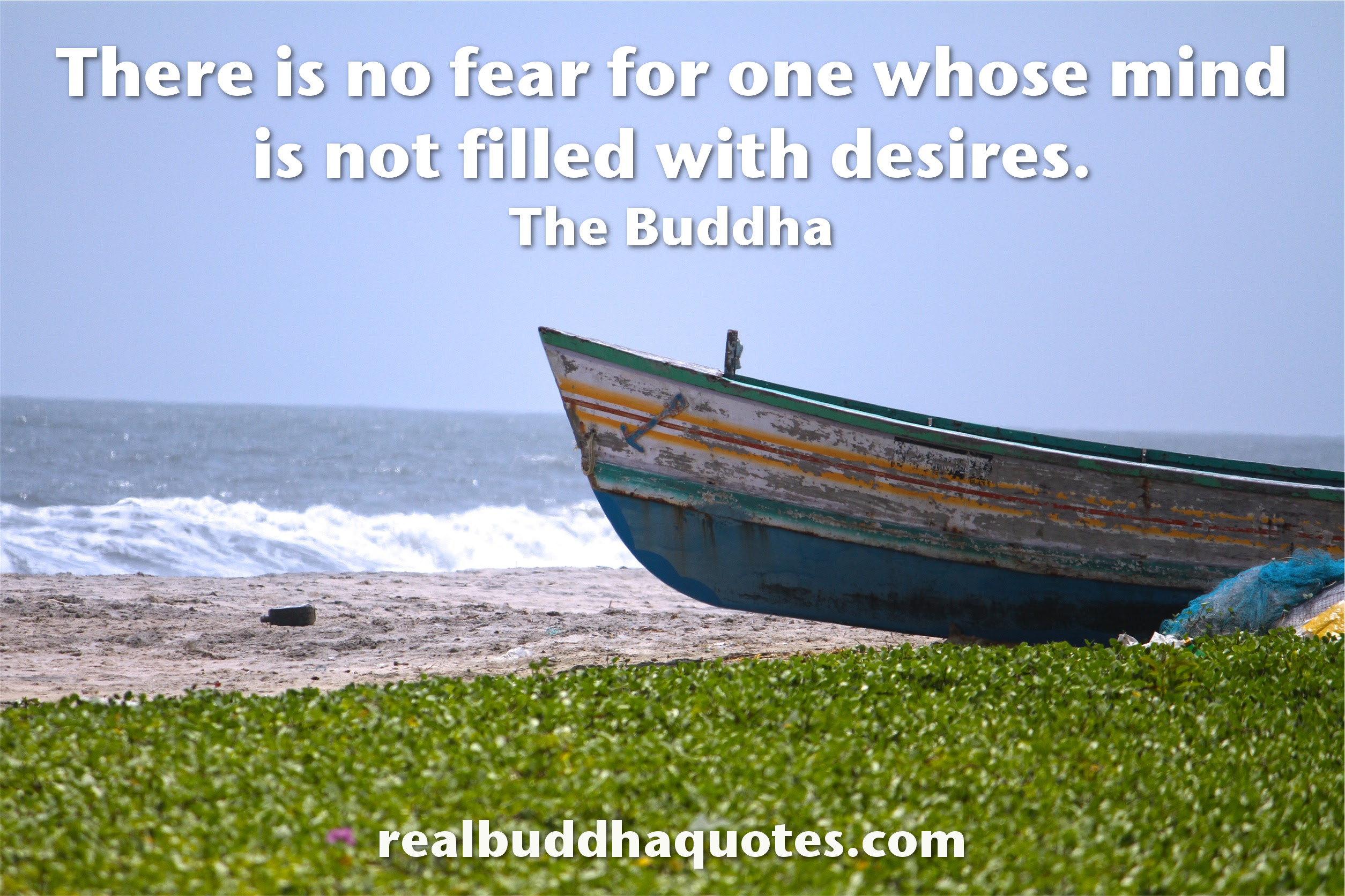 there is no fear for one whose mind is not filled with desires