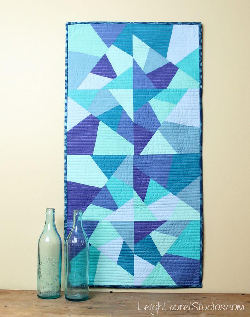 Sea glass table runner by karin jordan - leigh laurel studios - for sizzix