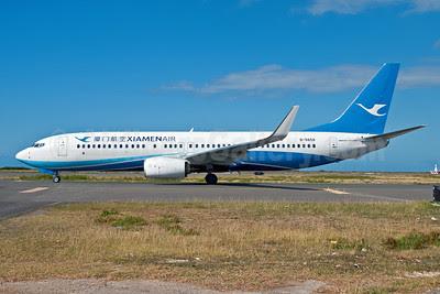 Xiamen Air Boeing 737-85C WL B-5658 (msn 38395) HNL (Ivan K. Nishimura). Image: 909401.