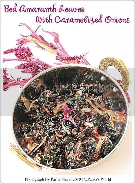 Red Amaranth Leaves,Caramelized Onions,Vegetarian,Bachelor Friendly,Easy Cooking,Amaranth Leaves,Stir Fried Veggies,Healthy Cooking,Low Fat Cooking