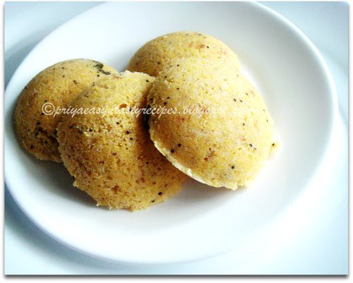 Cornmeal & Oats Idli