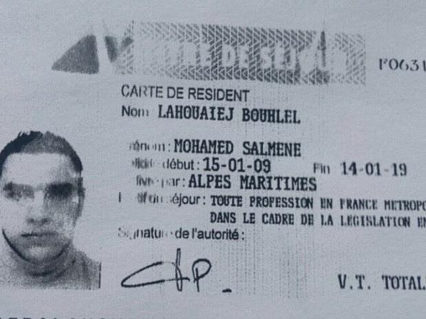 Mohamed Lahouaiej Bouhlel é apontado como o motorista do caminhão (Foto: Reprodução G1/Daily Mail)