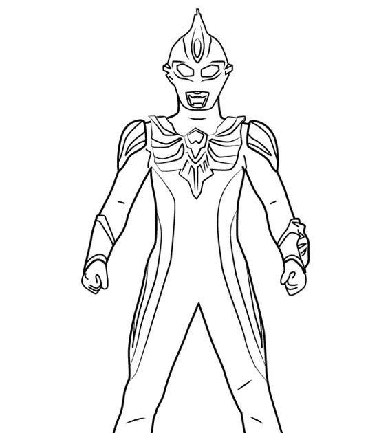 Gambar Mewarnai Ultraman Ginga
