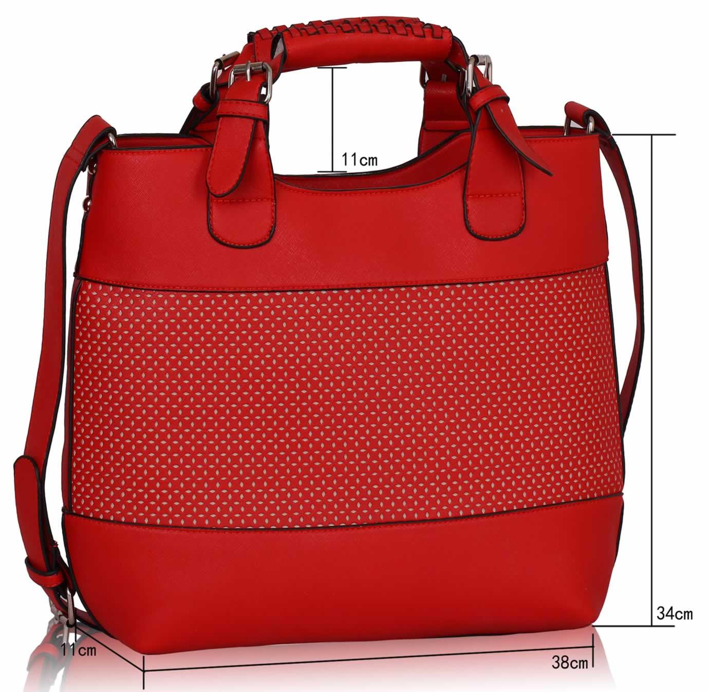 Wholesale Bags :: View All Handbags :: LS00268A - Red Ladies Fashion Tote Handbag - Ladies ...